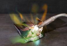 Heat sink destruction Stock Photography