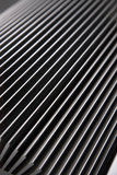 Heat Sink detail. Heat Sink,white and Silver,detail Royalty Free Stock Photo
