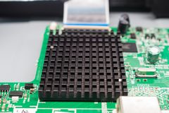 Heat sink on main board of television Royalty Free Stock Photography