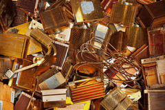Heat sinks copper Stock Photography