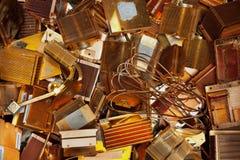 Heat sinks copper Stock Photography