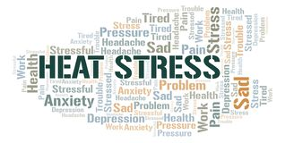 Heat Stress word cloud. Wordcloud made with text only stock illustration
