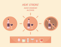 Heat stroke preventing recommendation. Royalty Free Stock Photo