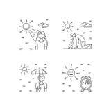 Heat stroke vector Stock Photos