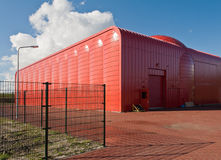 Heat transfer station in Almere, The Netherlands. The complete red Heat transfer station in Almere, The Netherlands Stock Image
