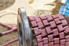 Heat treatment of welded joints Stock Photos