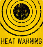 Heat warning sign Stock Images