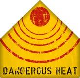 Heat warning sign Royalty Free Stock Photo