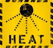 Heat warning sign, Royalty Free Stock Images