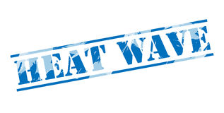 Heat WAVE blue stamp. Isolated on white background Royalty Free Stock Photo