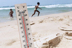 Heat Wave High Temperatures Stock Photo