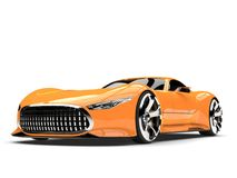 Heat wave orange modern super sports car. Isolated on white background Royalty Free Stock Photography