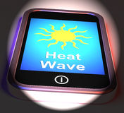 Heat Wave On Phone Displays Hot Weather Royalty Free Stock Photo