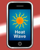 Heat Wave On Phone Means Hot Weather Royalty Free Stock Images