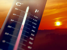 Summer heat. Heat weather and summer sky Royalty Free Stock Photography