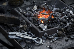 Heated coals Royalty Free Stock Photo
