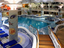 Heated pool. On the cruise ship Stock Photography