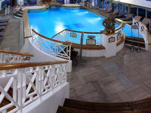 Heated pool. On the cruise ship Royalty Free Stock Photos