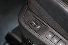 Heated seat rotary switch Stock Image
