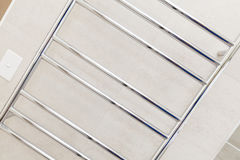 Heated towel rack Stock Photography