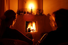 Heater And Woman Stock Photo