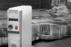 Heater In Bedroom elétrica fotografia de stock royalty free