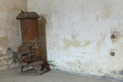 Heater boiler in the former Gestapo prison in Terezin. Stock Photo