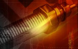 Heater plug. Digital illustration of a heater plug using in engines Royalty Free Stock Photo