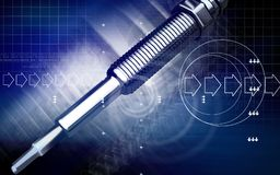 Heater plug. Digital illustration of a heater plug using in engines Royalty Free Stock Photography