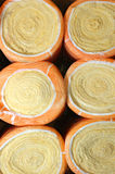 Heater in rolls. Thermal insulation material In rolls laid in packing royalty free stock photography