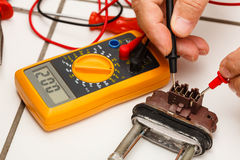 Heater tested by mechanic. Stock Images