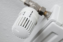 Heater thermostat fully open Stock Photo