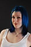 Heath shoot of blue hair. Stock Photos