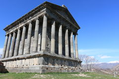 Heathen temple. The ancient heathen temple in spring in Armenia Royalty Free Stock Image