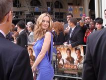 Heather graham. A shot of heather graham at the uk premiere of the movie Hangover in london possing for the cameras non 2009 Royalty Free Stock Photos