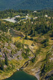 Heather Meadows, Mt , Washington immagini stock