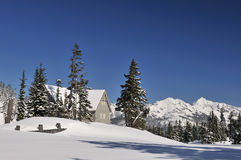Heather Meadows Visitor Center in Mt. baker Stock Images
