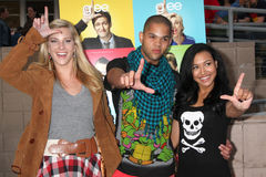 Heather Morris,Naya Rivera,Dijon Talton Stock Photos
