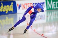 Heather Richardson - pattinaggio di velocità fotografia stock