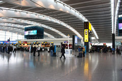 Heathrow airport. Inside Heathrow airport - Terminal 5 Departure Royalty Free Stock Images