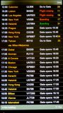 Heathrow airport departure board Royalty Free Stock Photo