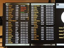 Heathrow airport departure board Stock Images