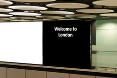 Heathrow airport, London. Sign at Heathrow airport, London. Copy space for new text Stock Image