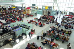 Heathrow Airport Waiting Area Stock Photography
