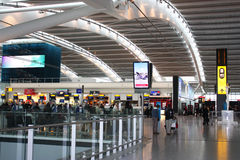 Heathrow airpot. Inside Heathrow airport - Terminal 5 Departure Royalty Free Stock Images
