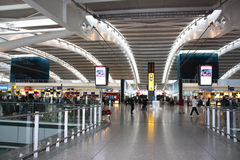 Heathrow airpot. Inside Heathrow airport - Terminal 5 Departure Stock Photo