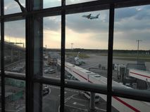 Heathrow busy Airport Travel. Waiting at the airport Royalty Free Stock Photography