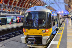 Heathrow Express to Paddington Station Royalty Free Stock Images