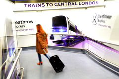 Heathrow Express Train - London UK Stock Image