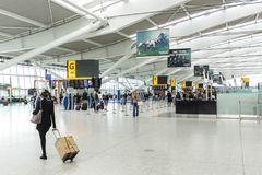Heathrow flygplatsterminal 5 Arkivbild